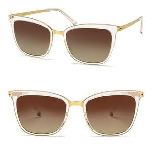 NWT MODO Polarized Sunglasses in Crystal/Gold